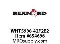 REXNORD WHT5998-42F2E2 WHT5998-42 F2 T2P N1.5 1C WHT5998 42 INCH WIDE MATTOP CHAIN W