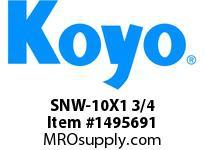 Koyo Bearing SNW-10X1 3/4 SPHERICAL BEARING ACCESSORIES