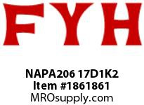 FYH NAPA206 17D1K2 PILLOW BLOCK-NORMAL DUTY ECCENTRIC COLLAR-HIGH TEMP CONTACT