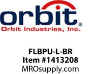 Orbit FLBPU-L-BR FLOOR BOX POP-UP W/ DUPLEX COVER & ADJ BOX BRASS