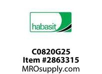 Habasit C0820G25 820-25T Split Sprocket for Multi-Hub