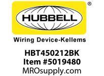 HBL_WDK HBT450212BK WBPREFORM RADI 45 2^Hx12^W BLACK