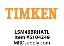 TIMKEN LSM40BRHATL Split CRB Housed Unit Assembly