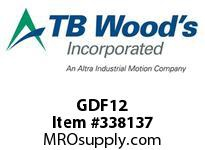 TBWOODS GDF12 DFX1/2 GEAR HUB