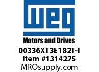 WEG 00336XT3E182T-I 3HP 3600 60 208-230/460 XP - Nema Pr