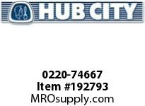 HUBCITY 0220-74667 120M 1/1 G SP 10^ BEVEL GEAR DRIVE