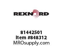 REXNORD 81442501 WHF8505-6 HDTAB T4P N.93 WHF8505 6 INCH RUBBERTOP MATTOP CHA