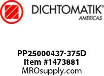 Dichtomatik PP25000437-375D SYMMETRICAL SEAL POLYURETHANE 92 DURO WITH NBR 70 O-RING DEEP LOADED U-CUP INCH