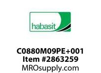 Habasit C0880M09PE+001 880 9T Machined Solid White UHMW - MPB
