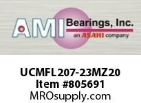 AMI UCMFL207-23MZ20 1-7/16 KANIGEN SET SCREW STAINLESS SINGLE ROW BALL BEARING