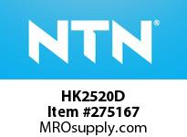 NTN HK2520D DRAWN CUP NRB(CAGE TYPE)