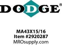 DODGE MA43X15/16 AK44 X 15/16 SHEAVE DRIVE COMPONENTS