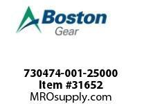 "BOSTON 77868 730474-001-25000 ROTOR 5F 2.5000"" STY.-1"