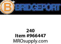 """Bridgeport 240 1/2"""" set screw coupling."""