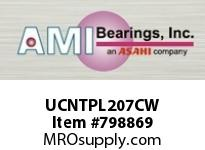 AMI UCNTPL207CW 35MM WIDE SET SCREW WHITE TAKE-UP 2 ROW BALL BEARING