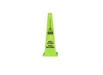 "Cortina 03-600-09L 36"" Lime Lamba Cone - Caution Wet Floor (English/Spanish)"