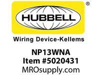 HBL_WDK NP13WNA WALLPLATE 1-G BOX MT BLANK WHITE