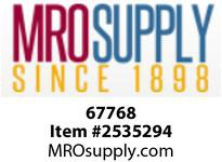 MRO 67768 1-1/2 BLACK C/S HEX STEEL PLUG