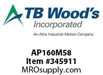 TBWOODS AP160M58 AP160MX5/8 ALL-PRO SHV