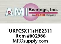 AMI UKFCSX11+HE2311 2 MEDIUM WIDE ADAPTER PILOTED FLANG SINGLE ROW BALL BEARING