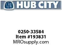 HUBCITY 0250-33584 HB2043IR 6.53 3.00HP HELICAL-BEVEL DRIVE