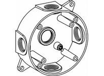 Orbit RB50-5-W 4^ ROUND W/P BOX 5 1/2^ HUBS - WHITE