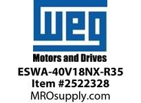 WEG ESWA-40V18NX-R35 FVNR 25HP/460V T-A 4X 120V Panels