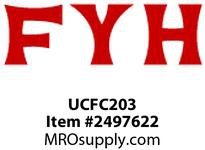 FYH UCFC203 17MM ND SS FLANGE CARTRIDGE UNIT *JIS*