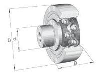 INA ZL5202KRDU Stud type track roller