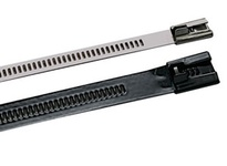 "AE6149 Multi-Lok Tie 316SS .276"" x .011"" (base metal) .018"" (coated Nylon 11) x 18"""