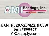 AMI UCNTPL207-23MZ2RFCEW 1-7/16 ZINC SET SCREW RF WHITE TAKE OPN/CLS COVERS SINGLE ROW BALL BEARING