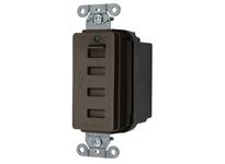 HBL_WDK USB4 USB CHRGR 4 PORT 5AMP 5 VOLT BROWN