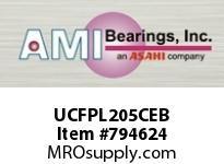 AMI UCFPL205CEB 25MM WIDE SET SCREW BLACK 4-BOLT FL ROW BALL BEARING