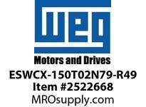 WEG ESWCX-150T02N79-R49 XP FVNR 125HP/460 N79 230/120V Panels