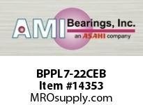 AMI BPPL7-22CEB 1-3/8 NARROW SET SCREW BLACK PILLOW PILLOW BLK/O.C&C.C