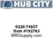 HUBCITY 0220-74657 120M 1/1 D SP 10^ BEVEL GEAR DRIVE