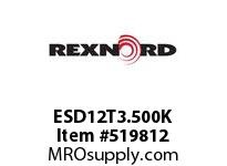 REXNORD ESD12T3.500K HS730-12T DR 3-1/2^ W/KW 135557