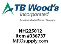 TBWOODS NH225012 NH2250X1/2 FHP SHEAVE