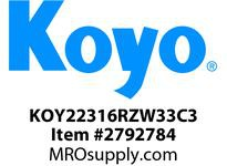 Koyo Bearing 22316RZW33C3 SPHERICAL ROLLER BEARING