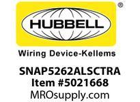 HBL_WDK SNAP5262ALSCTRA SNAP2CONNECT DPLX 15A/125V SC TR AL
