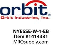 Orbit NYESSE-W-1-EB NY EDGE LIT 1FACE WHT HSG BATT