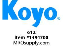 Koyo Bearing 612 TAPERED ROLLER BEARING