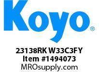 Koyo Bearing 23138RK W33C3FY BRASS CAGE-SPHERICAL BEARING