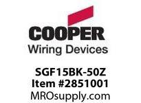 CPR-WDK SGF15BK-50Z GFCI ST Dup 15A125V BKno scr/ears50pk