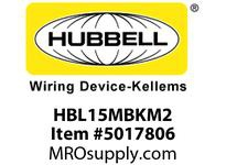 HBL_WDK HBL15MBKM2 SINGLE POLE SER 15 MALE PLUG 150A BK