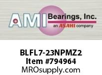 AMI BLFL7-23NPMZ2 1-7/16 ZINC NARROW SET SCREW NICKEL FLANGE SINGLE ROW BALL BEARING