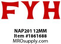 FYH NAP201 12MM PILLOW BLOCK-NORMAL DUTY ECCENTRIC COLLAR