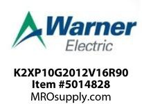 Warner Electric K2XP10G2012V16R90 WL001BB045JBAC0030 K2XP1.0G20-12V-16R90