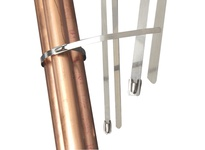 NSI SS26100 STAINLESS STEEL CABLE TIES 26.5^ 100 MIN MIN. TENSILE STRENGTH
