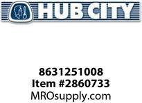 HUB CITY 8631251008 BUSHING PIPE 1/8X1/4NPT 18.8 SS Service Part